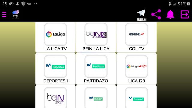 تحميل تطبيق gosu tv apk لمشاهدة القنوات الرياضية العالمية