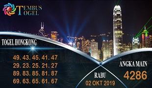 Prediksi Togel Angka Hongkong Rabu 02 Oktober 2019