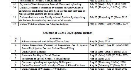 Ccmt 2020 Seat Allotment Round 1 2 3 Cut Off Mark Results Rojgarresultcard Com Rojgar Result Lotto Result Online Form 2020