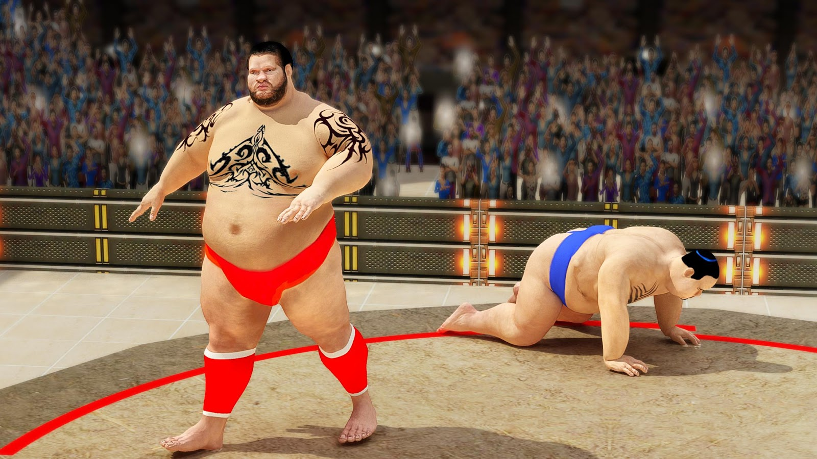 Sumo wrestling Revolution 2017 Pro Stars Fighting MOD APK Terbaru