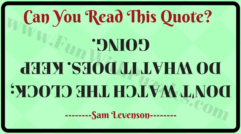 Quotes Can You Read These Upside Down Fun With Puzzles