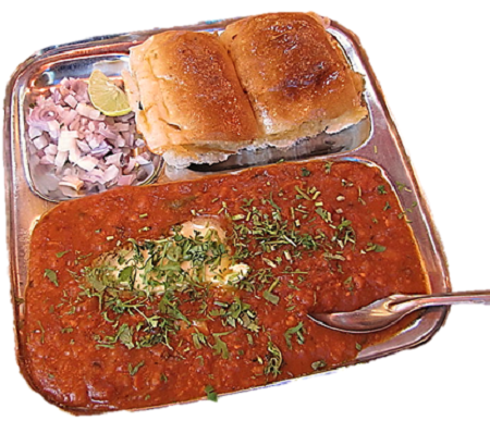 The pav bhaji is a famous street food apart from vada pau and other foods. Here the Mumbai type pav bhaji recipe is presented for you.