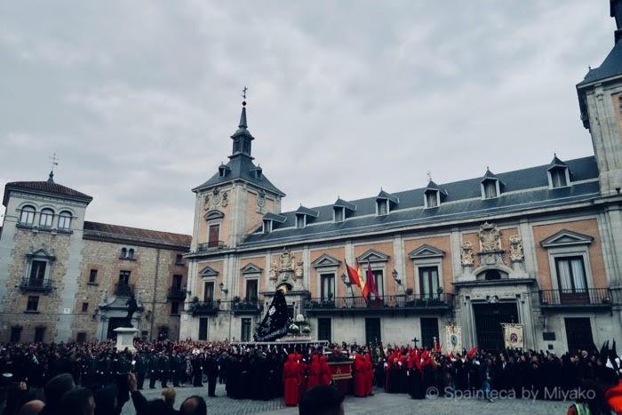 Semana Santa Plaza de la Villa en Madrid