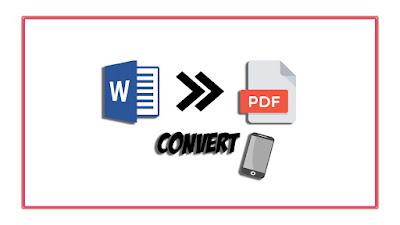 Cara mengubah file Word menjadi PDF tanpa aplikasi menggunakan Android