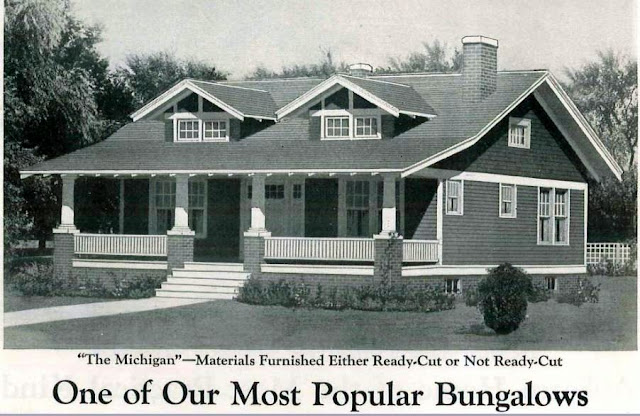 The Michigan from Montgomery Ward, from the 1925 Wardway Homes catalog. @ Sears Homes of Chicagoland