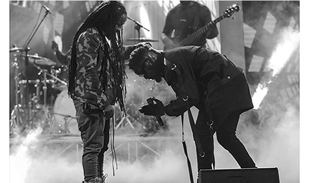 "Obrafour blessed Sarkodie at ""2017 Rapperholic Concert"""