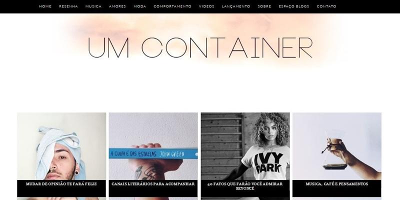 Menu de postagens recentes em miniaturas para blog | Um Container | Alef Cauê