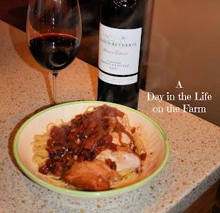 Abadia Retuerta Seleccion Especial and Chicken Braised in Balsamic Vinegar