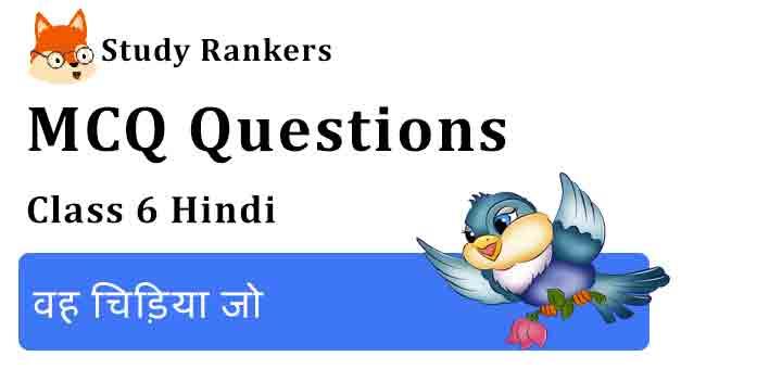 MCQ Questions for Class 6 Hindi Chapter 1 वह चिड़िया जो Vasant