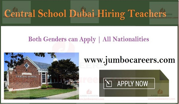 School job vacancies in Dubai, CBSE school vacancies in Gulf countries,