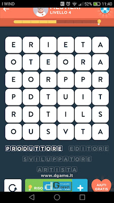 WordBrain 2 soluzioni: Categoria Mestieri (6X6) Livello 4
