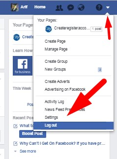 how to logout facebook in desktop