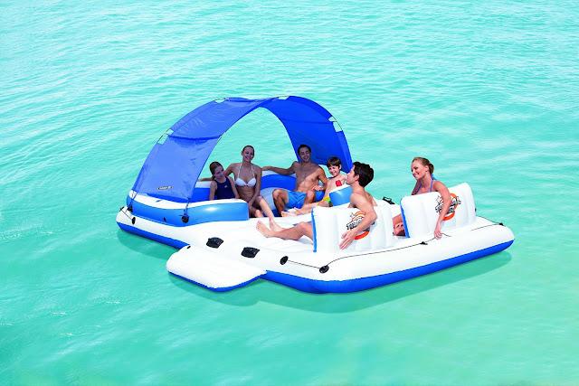 flotador isla hinchable