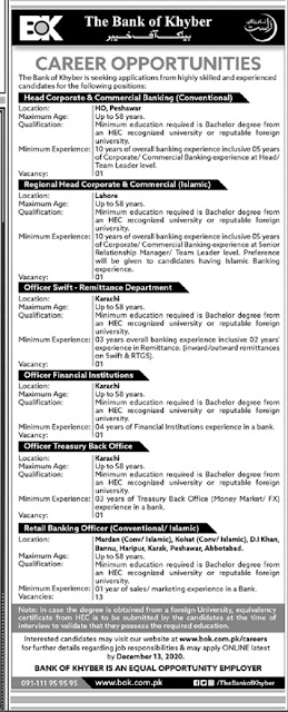 bok-jobs-advertisement-2020-the-bank-of-khyber