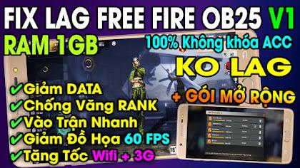 Update Fix Lag Free Fire OB25 1.58 [Mediafire] cho điện thoại cấu hình thấp Ram 1GB