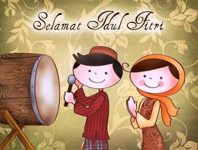 Kumpulan Gambar Kartun Ucapan Selamat Hari Raya Idul Fitri - liataja.com