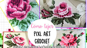 Crochet Pixelado o Pixel Crochet / Técnica de tejido