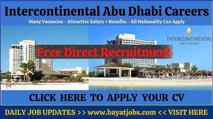 Intercontinental Abu Dhabi Careers Latest Job Vacancies