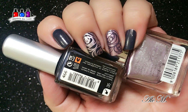 Kiko Denim Lacquer, 466, French Charcoal, P2 Color Victim, 991 Satellite Dreams, YZWLE02, Alê M