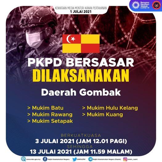 PKPD bersasar di Daerah Gombak, Selangor