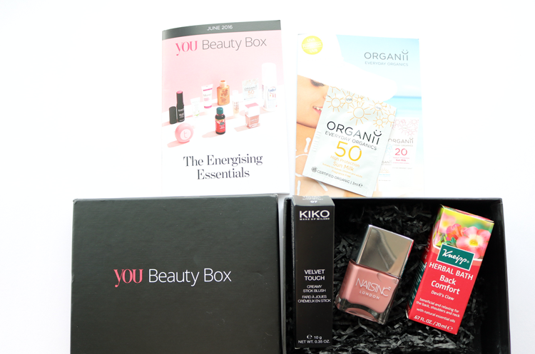 You Beauty Box - June 2016 review