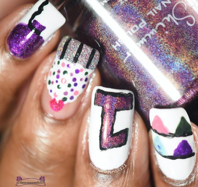 1 Yearr Blogaversary Nails