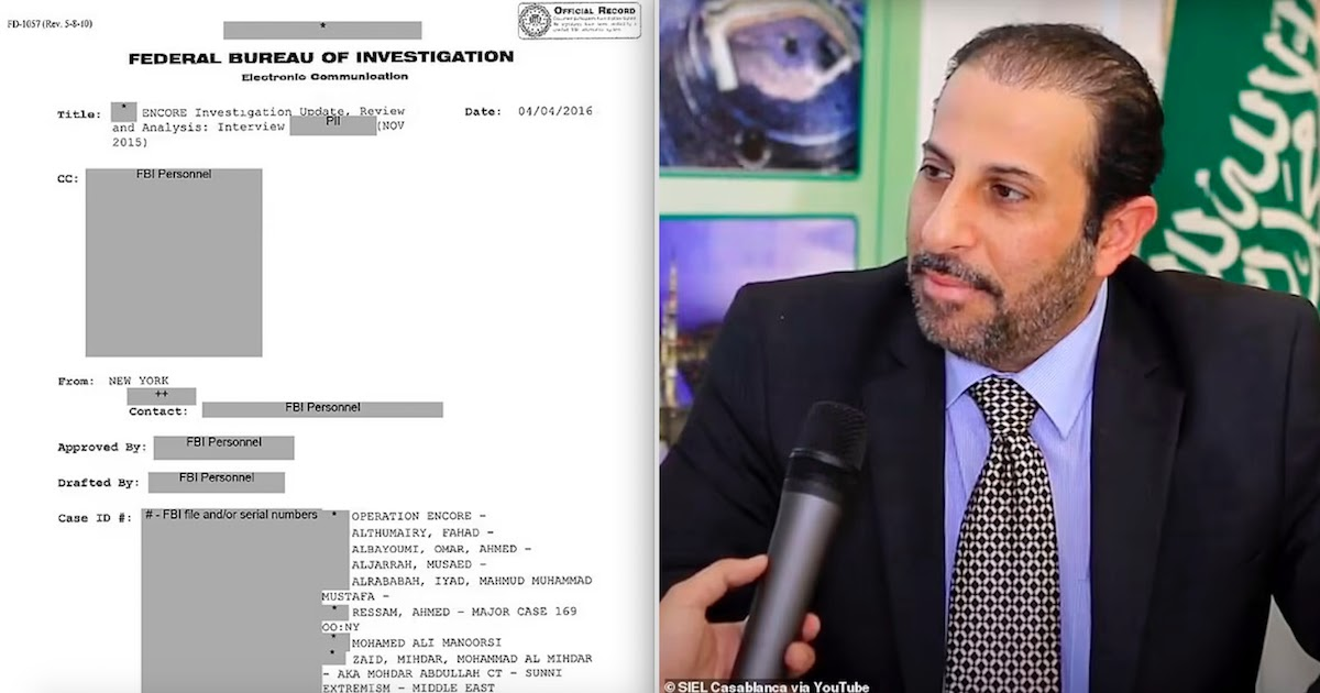 FBI Releases Confidential File On 9/11 Attacks Stating That Saudi Embassy Official Helped Attackers