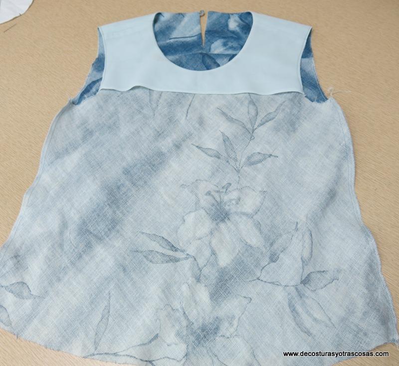 como coser una blusa fácil al bies