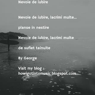 Nevoie de iubire de George Hentu