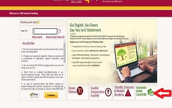 How to generate PNB ATM PIN Online?