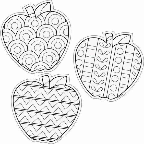 omalovánky jablko montessori