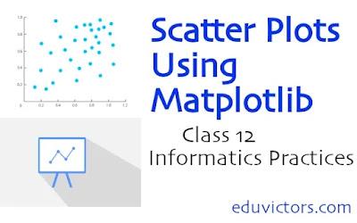 Class 12 Informatics Practices - Scatter Plots Using Matplotlib  (#class12InformaticsPractices)(#python)(#matplotlib)(#eduvictors)(#cbse2021)