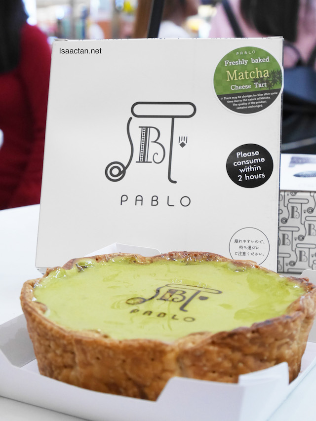 Pablo Freshly Baked Matcha Cheese Tart