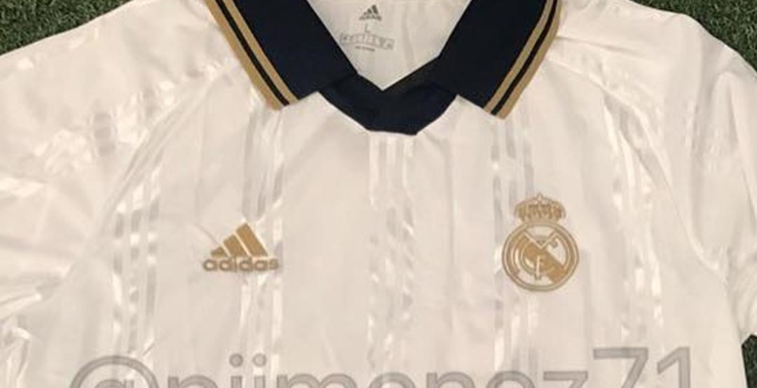 88a2b0ca2e6 Update  A new picture of the Adidas Real Madrid 2019-2020 Icon long-sleeve  retro shirt has been shared by  pjimenez71. It is set to be released this  summer.