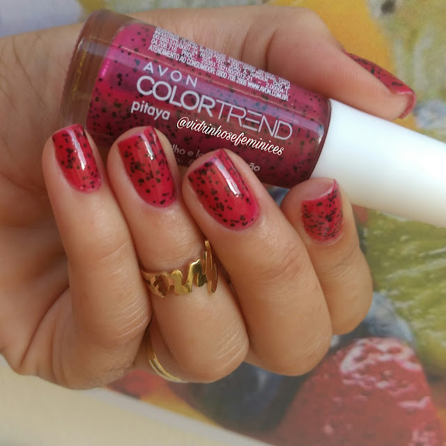 esmalte pitaya avon color trend efeito pontilhado