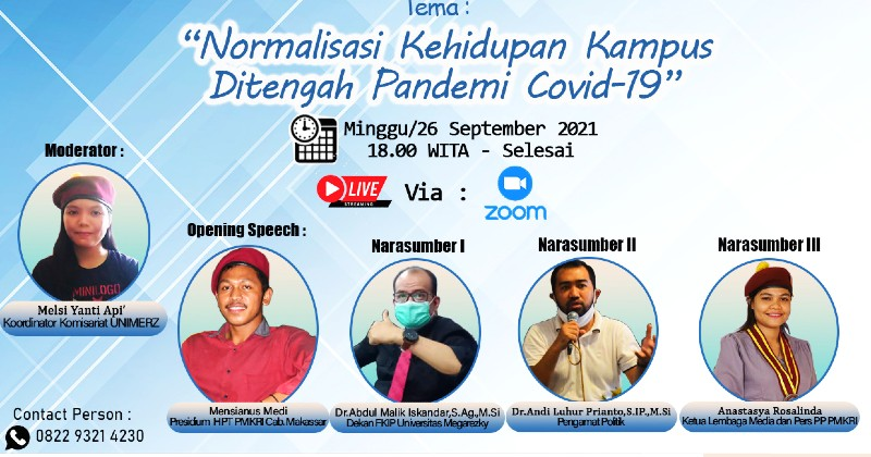 Webinar PMKRI Makassar: Normalisasi Pendidikan di Tengah Pandemi Covid-19
