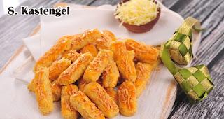 Kastengel merupakan salah satu makanan khas lebaran di Indonesia yang selalu ditunggu-tunggu