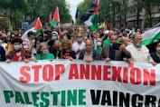 Ratusan Warga Prancis Berunjuk Rasa Menentang Aneksasi Israel