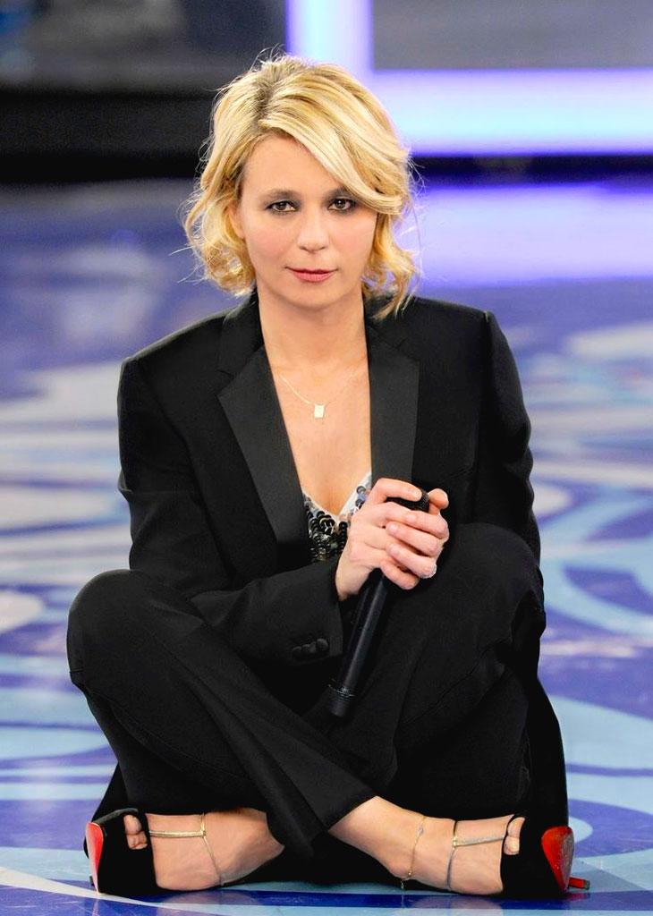 Maria De Filippi Television Presenter Italy On This Day