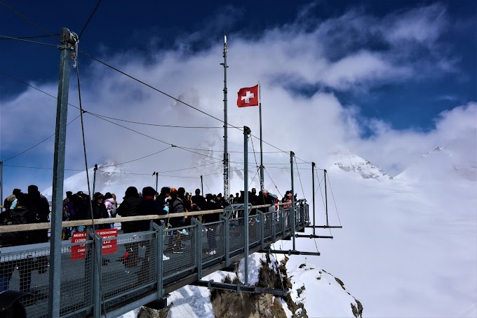 Cliff Walk at11,782 ft. Top of Europe