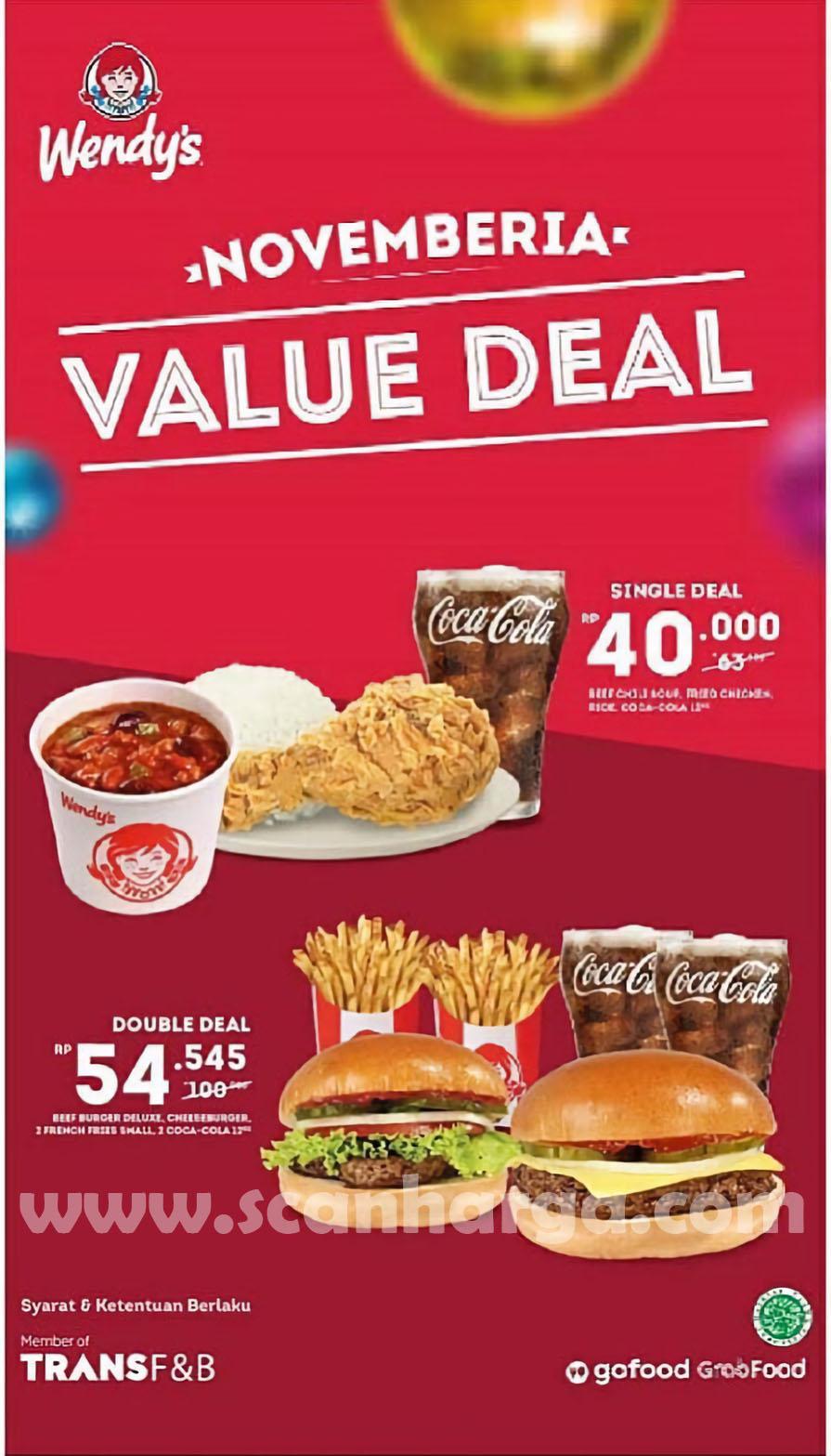 Promo Wendy's Novemberia Paket Value Deal