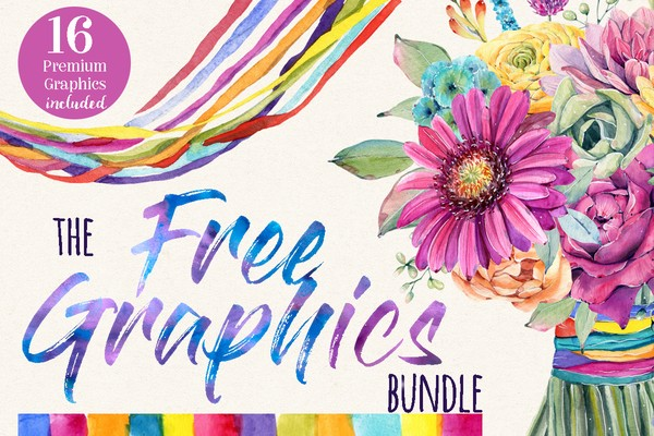 16 Free Premium Graphics Bundle