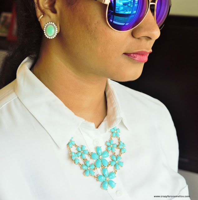 Forever 21 statement necklace and earrings