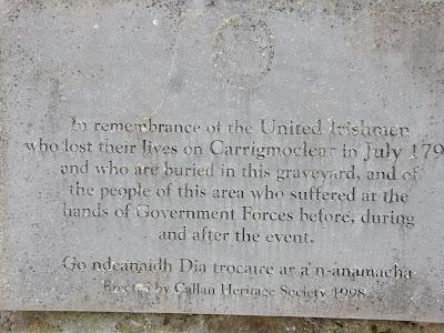 Killamery High Cross, 1798 Memorial