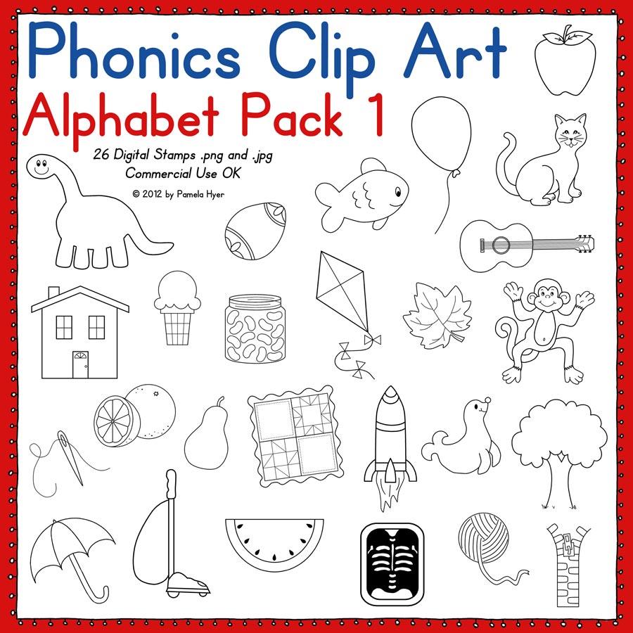 phonics clip art alphabet pack 1 - photo #1