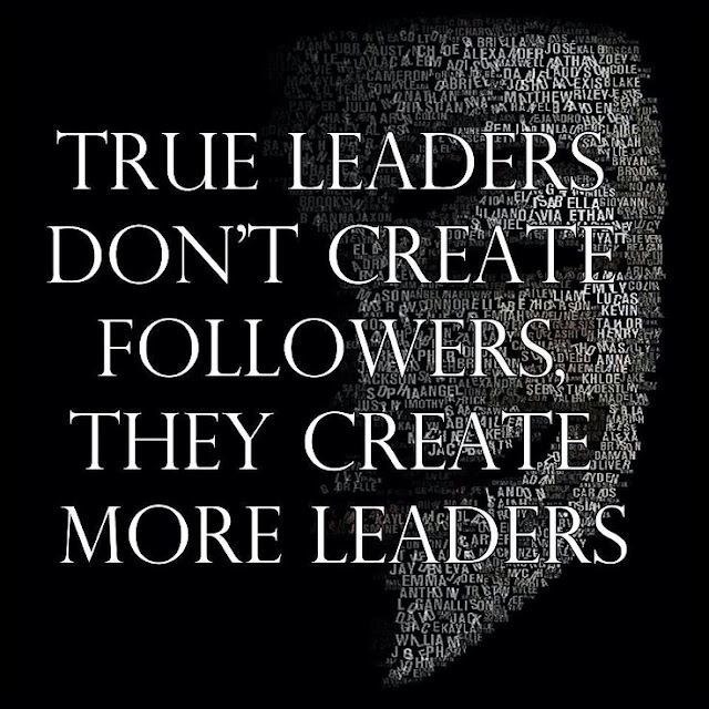 True Leaders Don't Create Followers, They Create More Leaders. #quote #leadership #inspirational #motivational