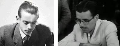Los ajedrecistas Héctor D. Rossetto y Antonio Medina