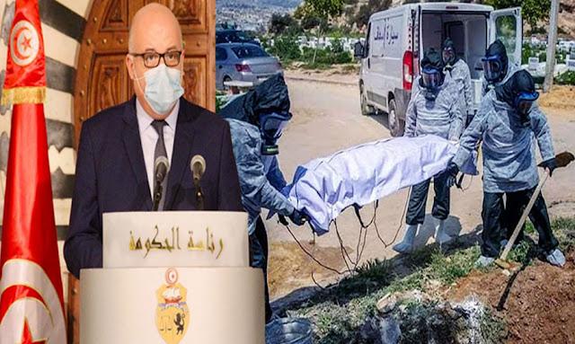 """تونس: بالفيديو ... وزير الصحة :""""الوفايات ستصل إلى أرقام خطيرة .. 2000 وفاة باش تتزاد في نصف شهر """""""