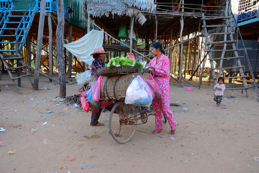pływające wioski w kambodży