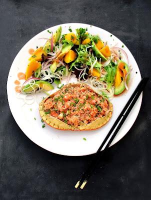 Tourteaux Farcis & Salade à la Thaï
